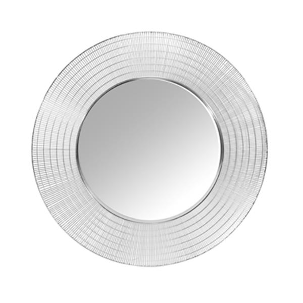 Home Gear 36-in Silver Caravel Circles Wall Mirror