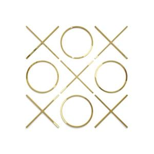 Home Gear 30-in x 30-in Tic Tac Toe Gold Wall Decor