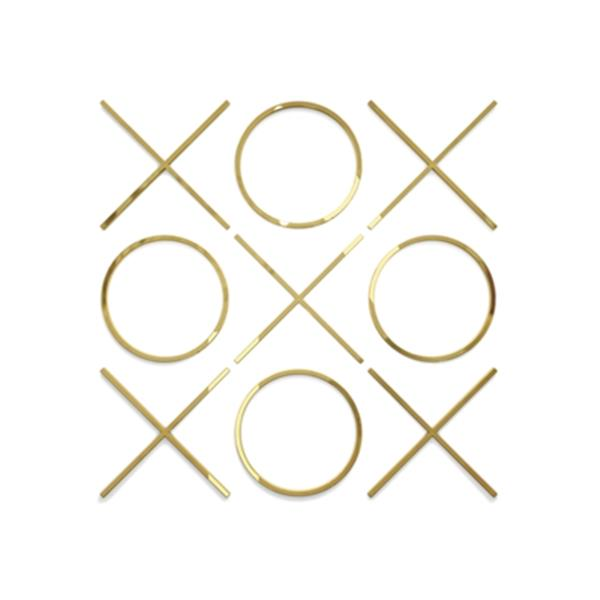 Home Gear 20-in x 20-in Tic Tac Toe Gold Wall Decor