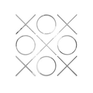 Home Gear 20-in x 20-in Silver Tic Tac Toe Wall Decor
