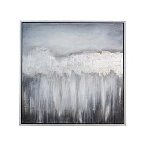 Home Gear 40-in x 40-in Grey Night Dusk Square Framed Art