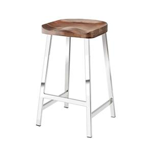 Home Gear 16-in Polished Steel Post Stool