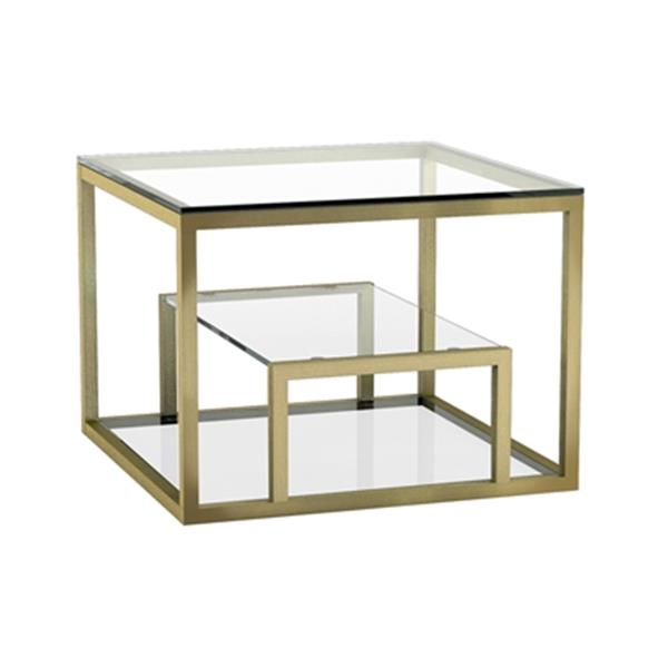 Home Gear Gael Polished Gold End Table