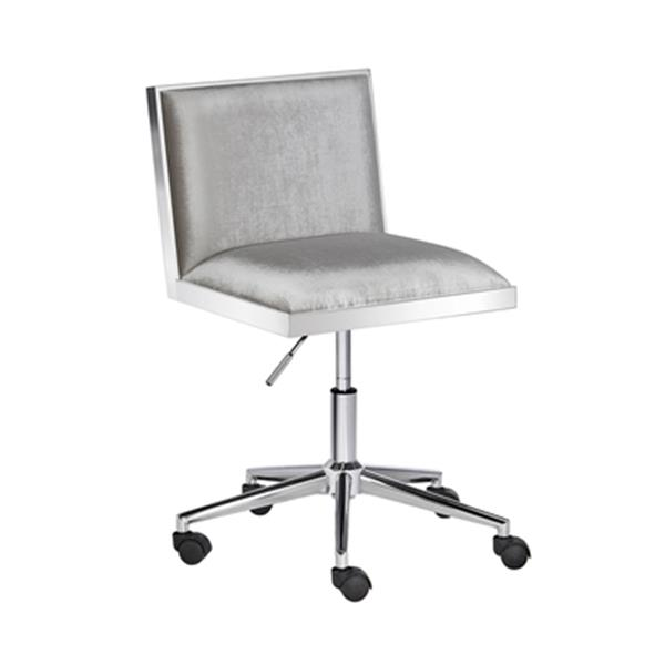 Home Gear Wellington Grey Velvet Office Chair