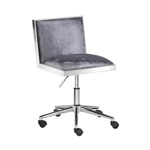 Home Gear Wellington Charcoal Velvet Office Chair
