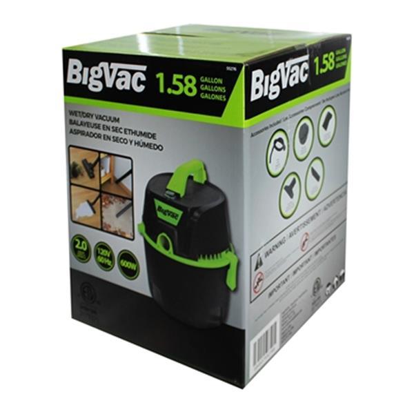 Big Vac 1.58 Gallon Wet/Dry Vacuum