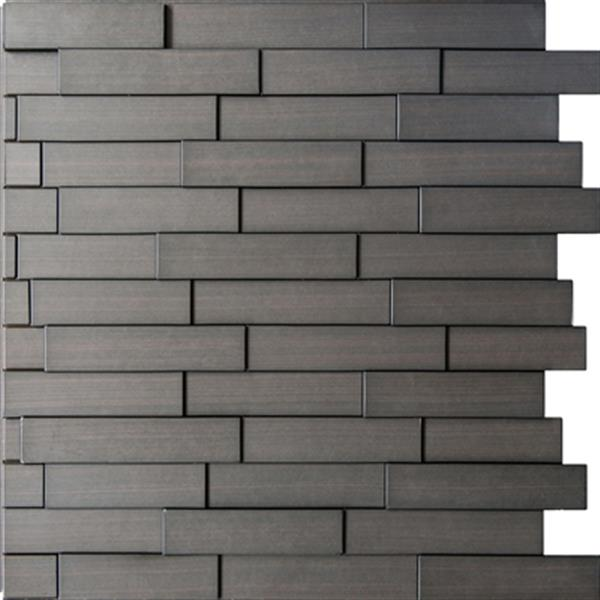 Retro Art Ledge Stone Dark Okasha Piano Steps 3D Wall Panels