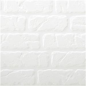 Retro Art Bricks White Backsplash Tiles Wall Paneling