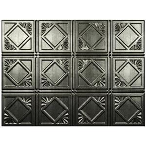Retro Art Artnouvo Silver Backsplash Tiles Wall Paneling