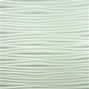 Retro Art Wilderness Waves White Backsplash Tiles Wall Paneling