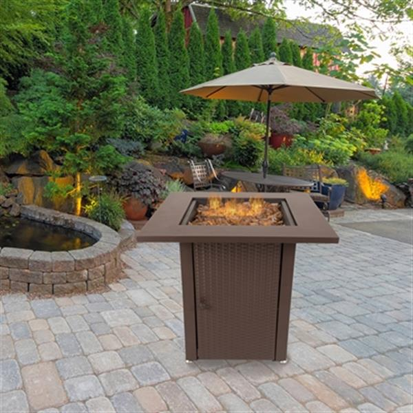 Pleasant Hearth Grant Gas Fire Pit Table,OFG007TF
