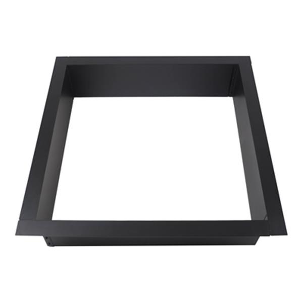 Pleasant Hearth 41.5-in Black Solid Steel Square Fire Ring