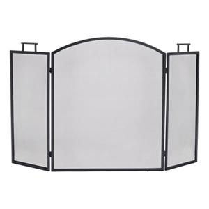 Pleasant Hearth 52-in x 31-in Black Classic Fireplace Screen