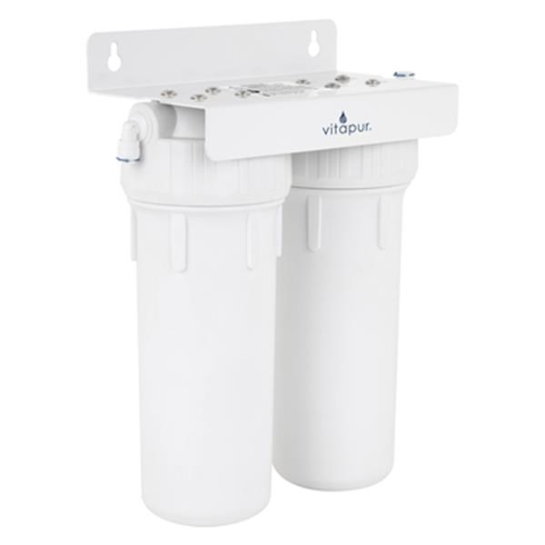 Vitapur 12.8-in White 2-Stage Water Filtration System