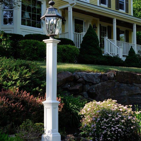 Mayne Signature Decorative Lamp Post with Mount - White