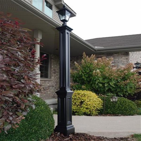 Mayne Signature Decorative Lamp Post with Mount - Black