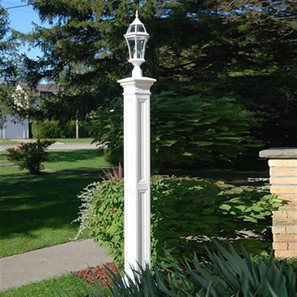 Mayne Liberty Decorative Lamp Post with Mount - White