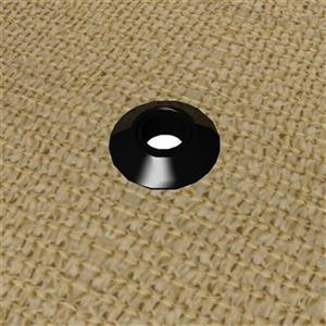 ShelterLogic Black Shade Cloth Snap Grommet (25-Pack)