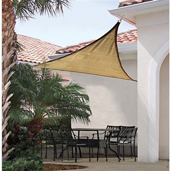 ShelterLogic Shade Sail Heavyweight Triangle - 12-ft x 12-ft - Sand