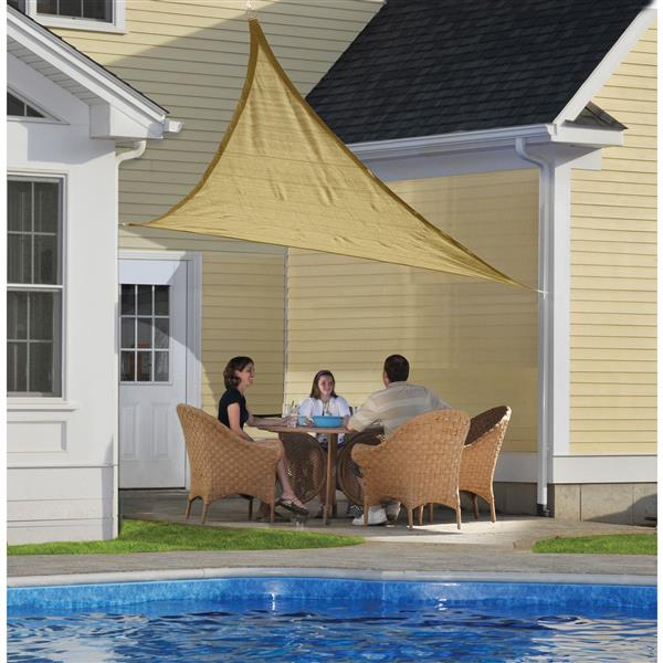 ShelterLogic Shade Sail Heavyweight Triangle - 16-ft x 16-ft- Sand