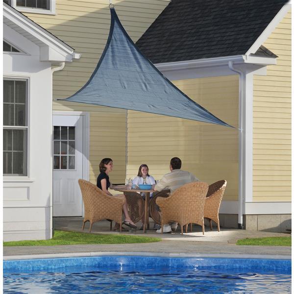ShelterLogic Shade Sail Heavyweight Triangle - 12-ft x 12-ft - Sea Blue