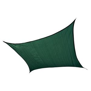 ShelterLogic 12-ft x 12-ft Evergreen Heavyweight Polyethelene Square Sun Shade Sail