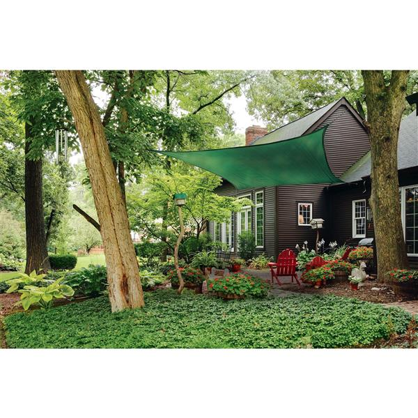 ShelterLogic Shade Sail Heavyweight Square - 16-ft x 16-ft - Evergreen