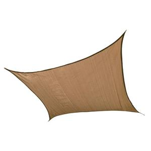 Shelterlogic 12-ft x 12-ft Tan Heavyweight Polyethelene Square Sun Shade Sail