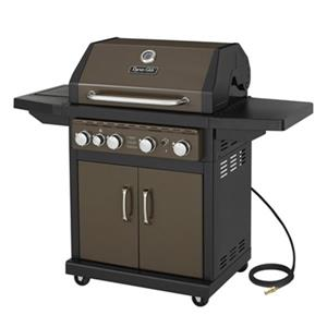 Natural Gas Grill with Side Burner – 48,000 BTU - Brown