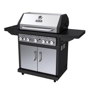 Dyna-Glo 5-Burner Gas Grill with Side and Rotisserie Burner - 55,000 BTU