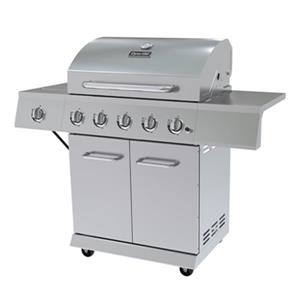 5-Burner Gas Grill with Side Burner - 62,000 BTU - Stainless
