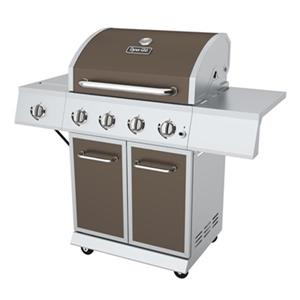 Dyna-Glo 4-Burner Gas Grill with Side Burner - 40,000 BTU - Bronze