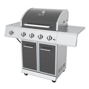 Dyna-Glo 4-Burner Gas Grill with Side Burner - Gunmetal