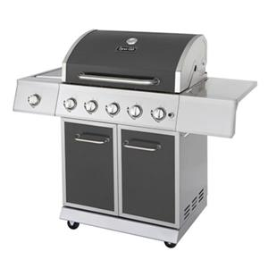 Barbecue au gaz à 5 brûleurs, 62 000 BTU, gris métallisé