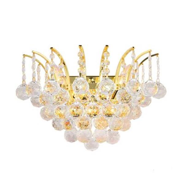 Worldwide Lighting Empire Collection Polished Chrome Crystal 3-Light Wall Sconce