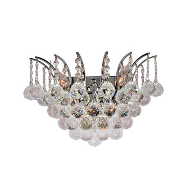 Worldwide Lighting Empire Collection Gold Crystal 3-Light Wall Sconce