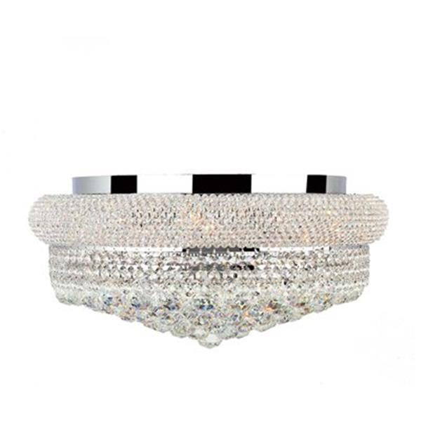 Worldwide Lighting 20-in Empire Crystal Flush Mount Ceiling Light
