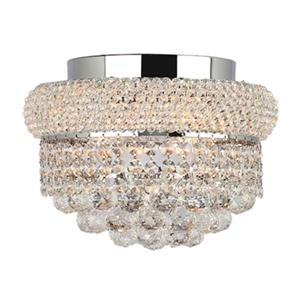 Worldwide Lighting Empire 4-Light Polished Chrome Semi Flush Ceiling Light
