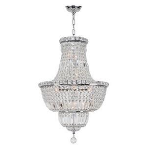 Worldwide Lighting Empire Polished Chrome Crystal Chandelier