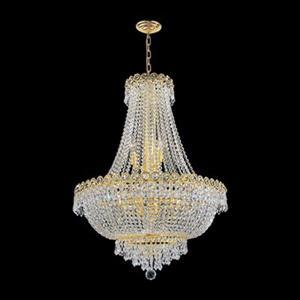 Worldwide Lighting Empire 12-Light Gold Crystal Chandelier