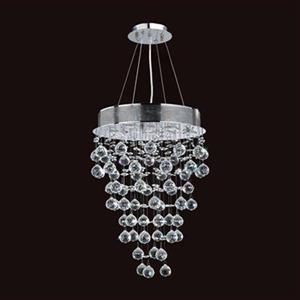 Worldwide Lighting Icicle 7-Light Polished Chrome Crystal Convertible Pendant Light