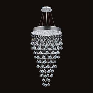 Worldwide Lighting Icicle 9-Light Polished Chrome Crystal Large Pendant Light