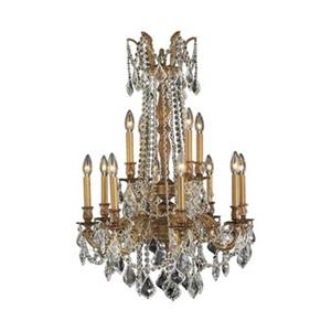 Worldwide Lighting Windsor 12-Light French Gold Chandelier