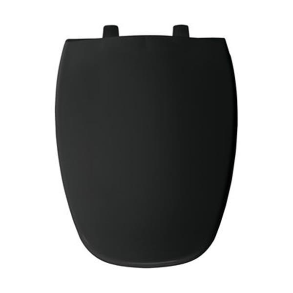 Bemis Emblem Elongated Black Plastic Toilet Seat