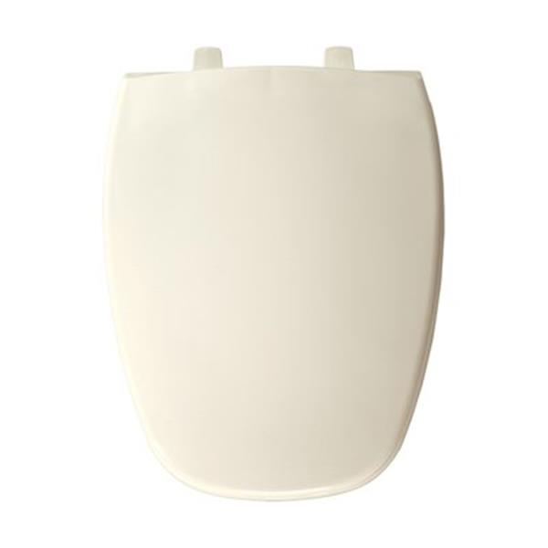 Bemis Open Front Round 2-in Lift White Plastic Toilet Seat