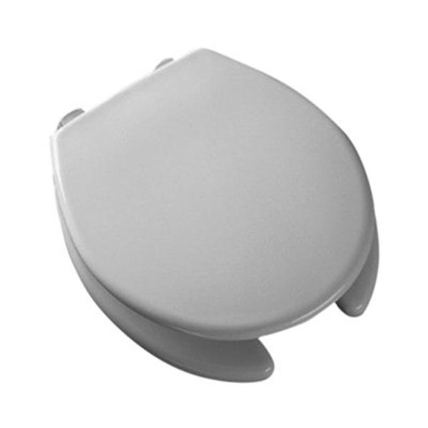 Bemis Open Front Elongated Front 2-in Lift White Plastic Toilet Seat