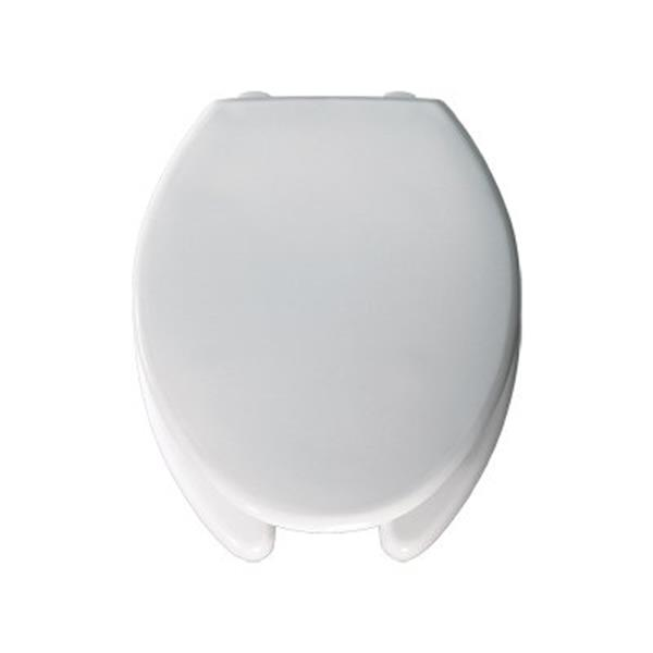 Bemis Open Front Elongated 3-in Lift White Plastic Toilet Seat