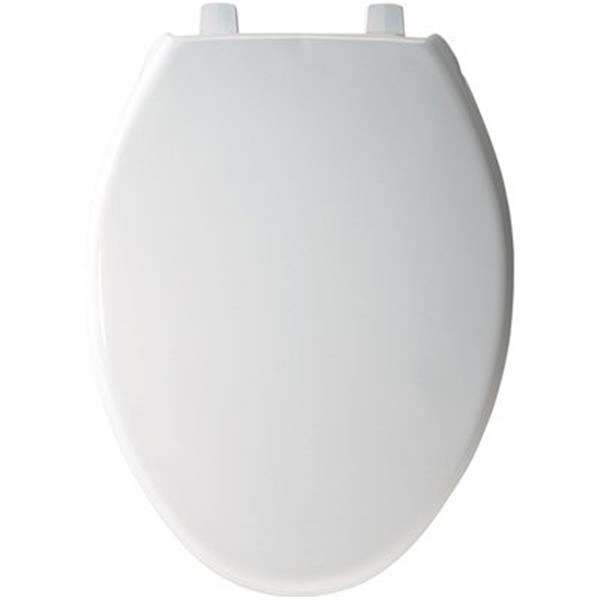 Bemis Just Lift Elongated Front White Plastic Toilet Seat