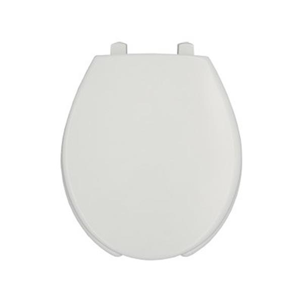 Bemis Open Front Round White Plastic Toilet Seat