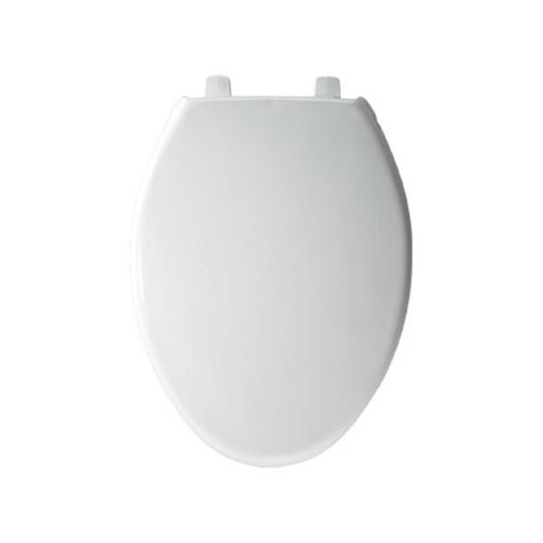 Bemis Elongated Closed Front White Toilet Seat Cover